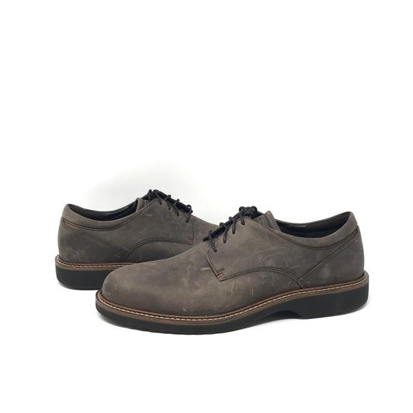 MEN'S ECCO WALKATHON Shoes Black Leather US 10 EUR 41 ~EUC~